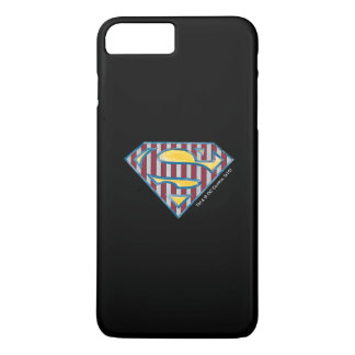 Superman S-Shield | Striped Logo iPhone 7 Plus Case