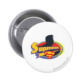 Superman Silhouette 6 Cm Round Badge