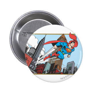 Superman & Skyscrapers 6 Cm Round Badge