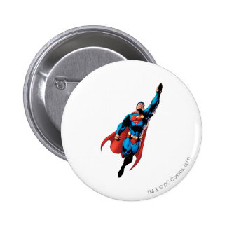 Superman Soars 6 Cm Round Badge