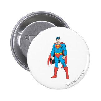 Superman Standing 6 Cm Round Badge