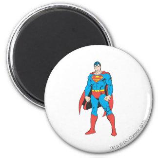 Superman Standing 6 Cm Round Magnet
