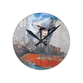 Superman Stare Round Clock