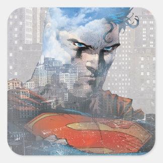 Superman Stare Square Sticker