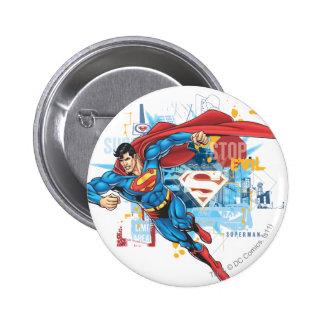 Superman - Stop Evil 6 Cm Round Badge