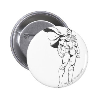 Superman Strikes a Pose 6 Cm Round Badge