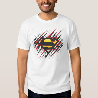 Superman Stylized | Black and Red Strikes Logo Shirt