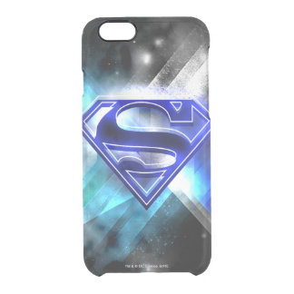 Superman Stylized | Blue White Crystal Logo Clear iPhone 6/6S Case
