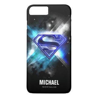 Superman Stylized | Blue White Crystal Logo | Name iPhone 7 Plus Case