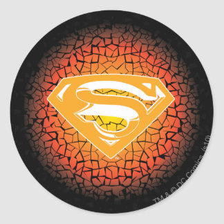 Superman Stylized | Crackle Logo Round Sticker