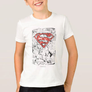 Superman Stylized | Crumpled Comic Logo T-Shirt