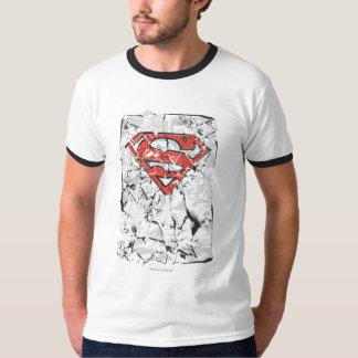 Superman Stylized | Crumpled Comic Logo Tshirts