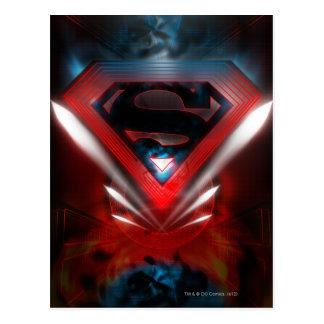 Superman Stylized | Futuristic Logo Postcard