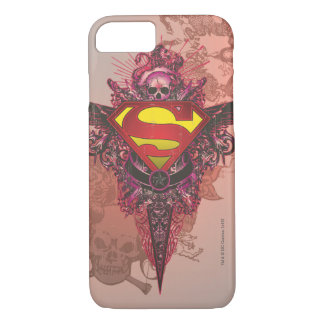 Superman Stylized | Grunge Design Logo iPhone 7 Case