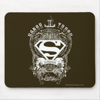 Superman Stylized | Honor, Truth and Justice Logo Mouse Pad