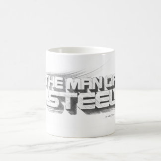 Superman Stylized | Man of Steel Drawing Logo Basic White Mug