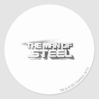 Superman Stylized | Man of Steel Drawing Logo Round Sticker