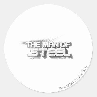 Superman Stylized   Man of Steel Drawing Logo Round Sticker
