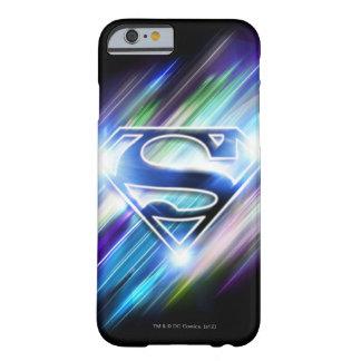 Superman Stylized | Shiny Blue Burst Logo Barely There iPhone 6 Case