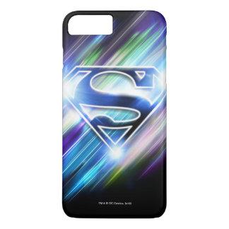 Superman Stylized | Shiny Blue Burst Logo iPhone 7 Plus Case