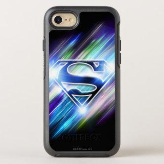 Superman Stylized | Shiny Blue Burst Logo OtterBox Symmetry iPhone 7 Case