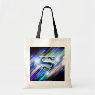 Superman Stylized | Shiny Blue Burst Logo Tote Bag
