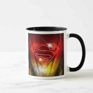 Superman Stylized   Shiny Red Outline Logo Mug