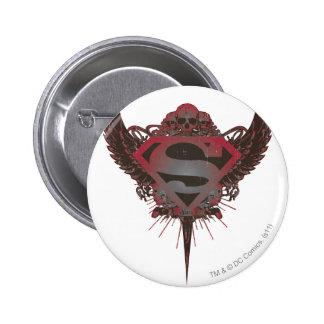 Superman Stylized | Skull and Wings Logo 6 Cm Round Badge