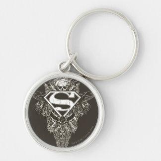 Superman Stylized | Star and Skull Logo Key Ring
