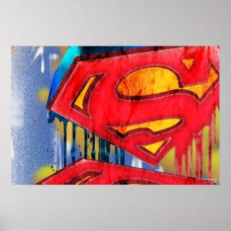 Superman Stylized | Urban Spraypaint Logo Poster