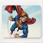 Superman swift through the air mouse pad