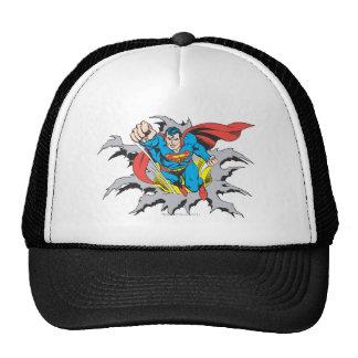 Superman Tears Thru Trucker Hat