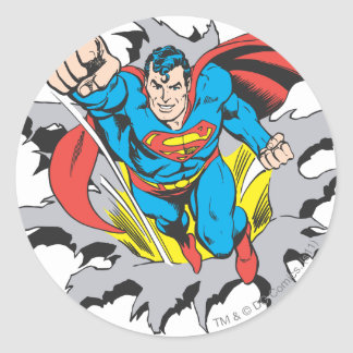 Superman Tears Thru Sticker