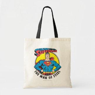 Superman The Man of Steel Tote Bag