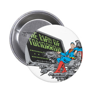 Superman - The Man Of Tomorrow 6 Cm Round Badge