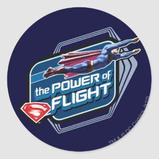 Superman The Power of Flight Round Sticker