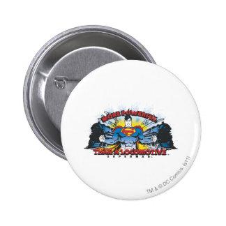Superman - Two Trains 6 Cm Round Badge