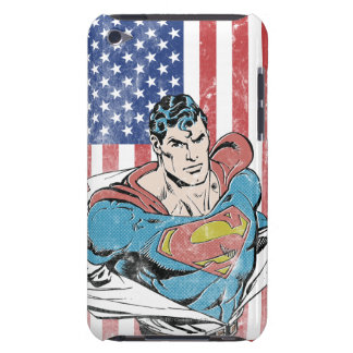 Superman & US Flag Barely There iPod Cover