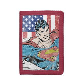 Superman & US Flag Tri-fold Wallet