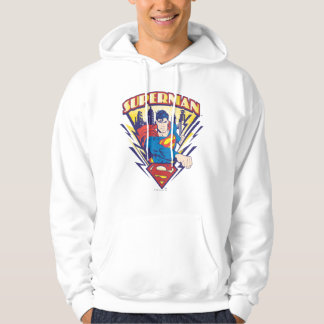 Superman with Electricity Hooded Pullover