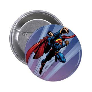 Superman with light streaks 6 cm round badge