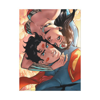 Superman/Wonder Woman Comic Cover #11 Variant Canvas Print