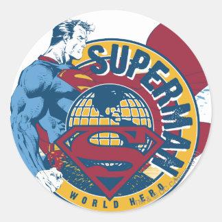 Superman - World Hero Round Sticker