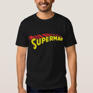 Superman | Yellow Red Letters Logo T Shirts