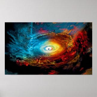 Supermassive Black Hole Illustration Poster