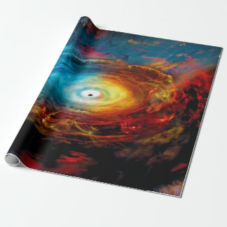 Supermassive Black Hole Illustration Wrapping Paper