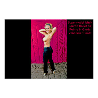 Supermodel Ishah Laurah in Gloria Vanderbilt Pants Poster