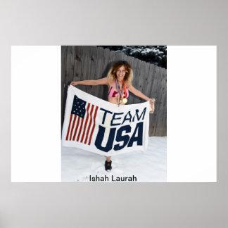 Supermodel Movie Star Athlete Medalist Ishah Laura Poster