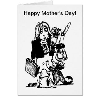 Supermom: A Mom Who Does It All Greeting Card