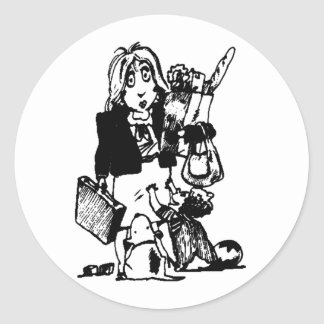 Supermom: A Mom Who Does It All Round Sticker